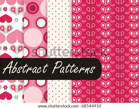 Lovely Pink Patterns - stock vector