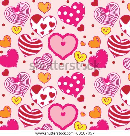 lovely seamless love icon - stock vector