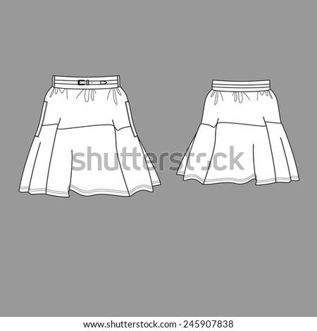 Lovely skirt - stock vector