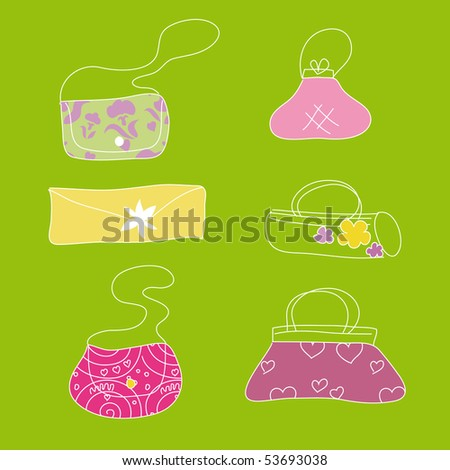 Lovely summer bags - stock vector