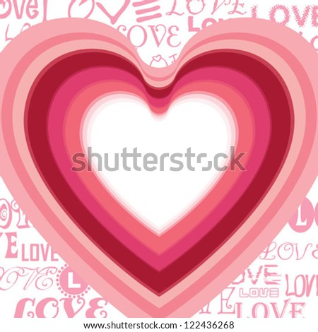 Lovely Valentine's Card - stock vector