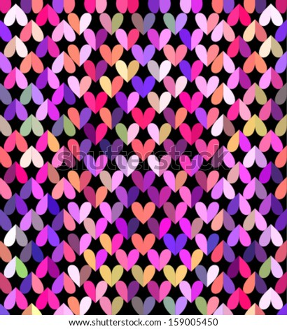 lovely valentine's day colorful background with vivid multiple colors - stock vector