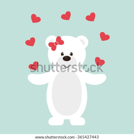 lovely white teddy with heart