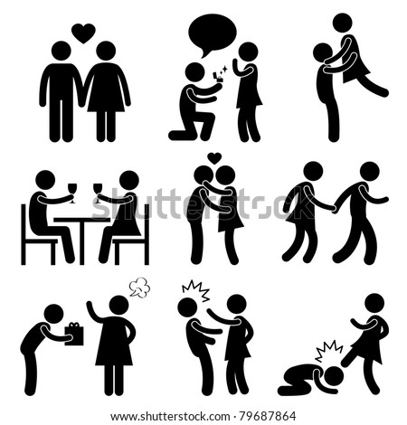 Lover Couple Love Proposal Wedding Marriage Hug Romantic Kissing Holding Hand Gift Angry Slap Kick