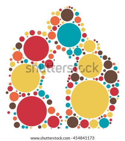 lover shape vector design by color point