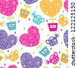 Lovers of the heart. Seamless pattern. - stock vector