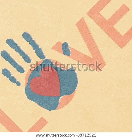 Loving hand - stock vector
