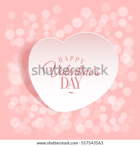 loving heart. Background template greeting card on Valentine's Day. Vector illustration