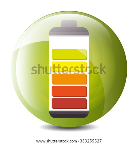 Low battery charging icon design, vector illustration graphic.