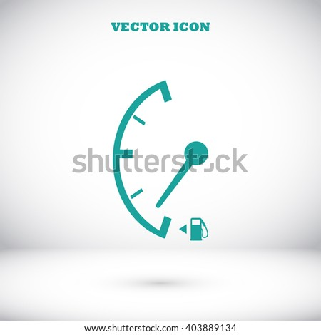 Low fuel sign isolated icon - stock vector