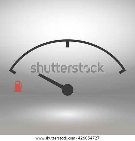 Low fuel sign  isolated icon, vector illustration