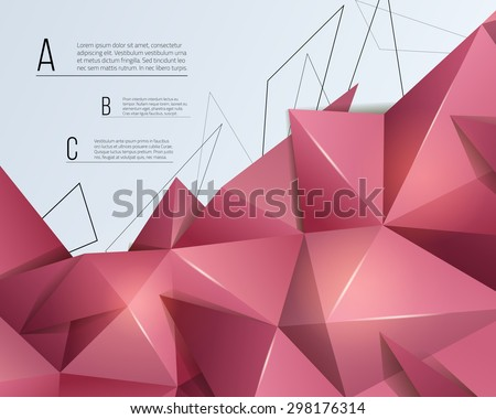 Low poly abstract background. Triangular vector illustration.