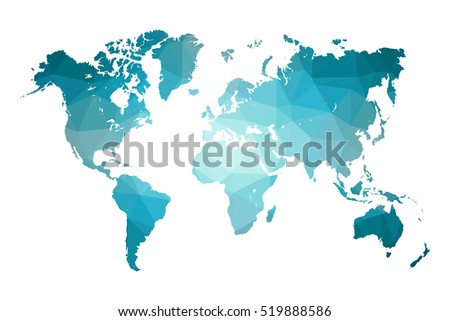 Low poly map world world map stock photo photo vector low poly map of world world map made of triangles blue polygonal shape vector gumiabroncs Image collections