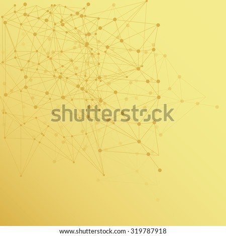 Low poly, Molecule And Communication Background. Abstract white bright technology vector background. Connection structure. Vector science background. Polygonal vector background - stock vector