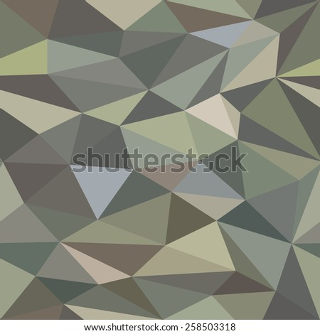Low Poly Seamless Camouflage Background Pattern - stock vector