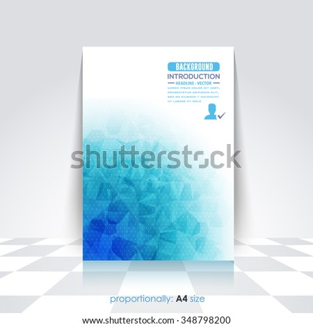 Low Poly Style A4 Style Flyer, Brochure Design. Cover, Corporate Leaflet Template - stock vector