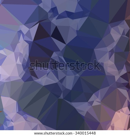 Low polygon style illustration of a bluebonnet blue orange abstract geometric background. - stock vector