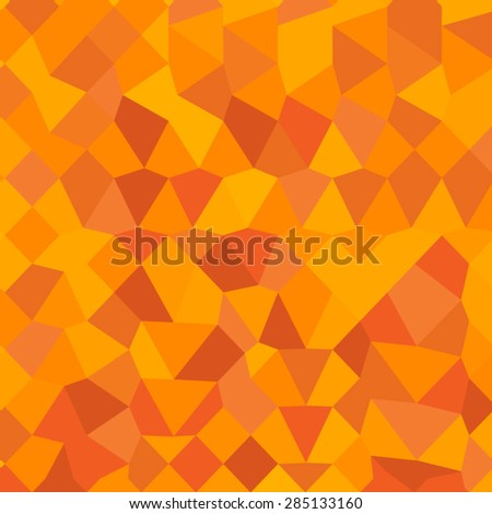 Low polygon style illustration of a golden poppy yellow abstract geometric background. - stock vector