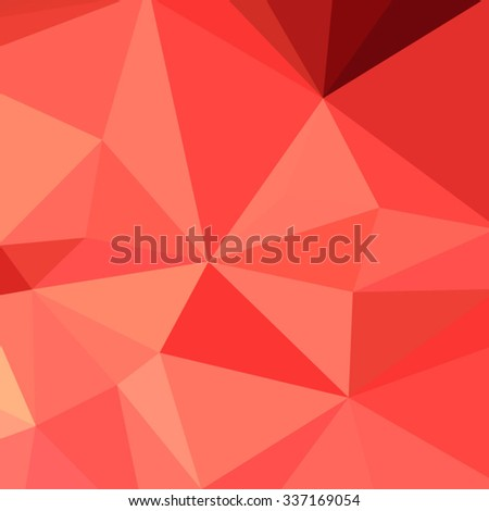 Low polygon style illustration of portland orange abstract geometric background. - stock vector