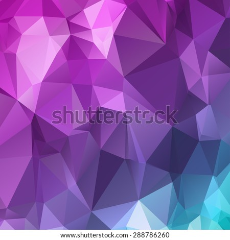 Low polygon Triangle Pattern Background,Vector - stock vector
