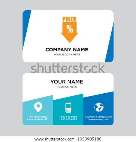 Low price business card design template stock vector royalty free low price business card design template visiting for your company modern creative and clean colourmoves