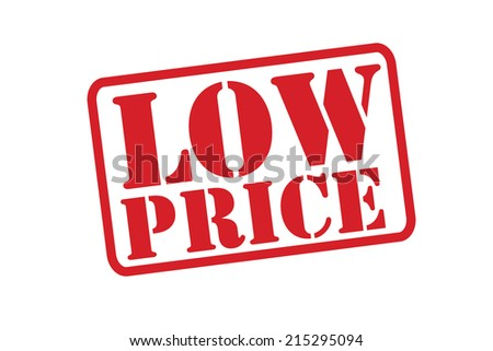 LOW PRICE Red Rubber Stamp vector over a white background. - stock vector