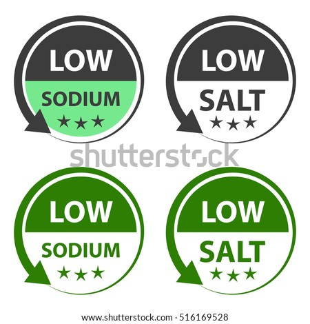 Low salt food labels.