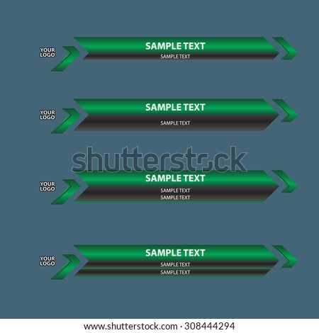 lower third banner bar screen broadcast - stock vector