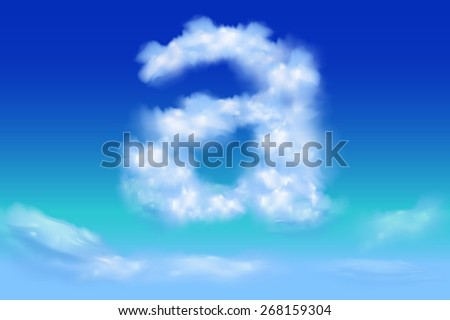 Lowercase Font from the clouds concept.a - stock vector