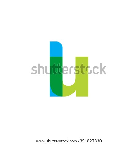 Lowercase Lu Logo Blue Green Overlap Stock Photo Photo Vector