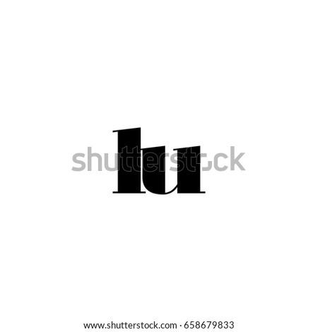 Lu Logo Stock Vector 658679833 Shutterstock