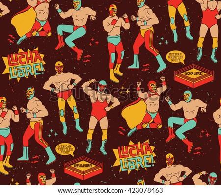 Wrestling crowd background