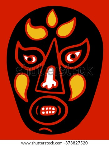 Lucha mask - stock vector