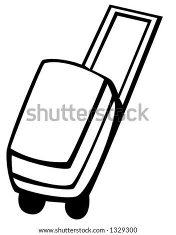luggage - stock vector