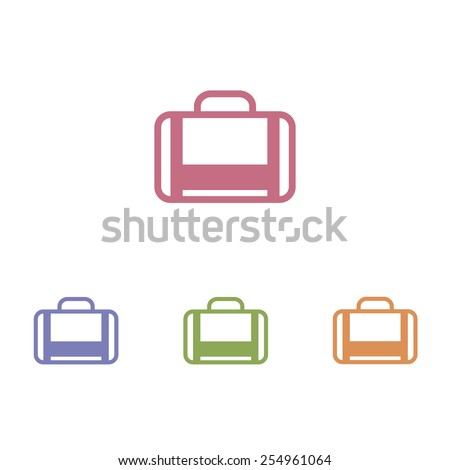 luggage icons - stock vector