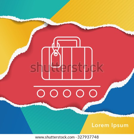 luggage line icon
