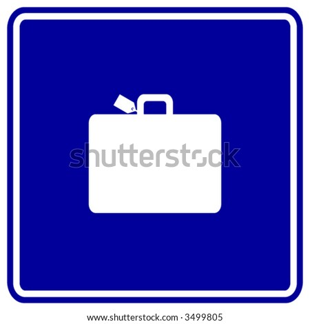 luggage sign - stock vector