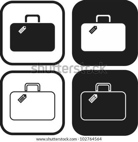 luggage symbol - stock vector