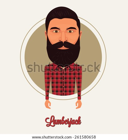 Lumberjack Character - stock vector