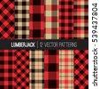lumberjack patterns.  red ...