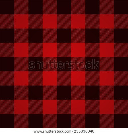 Lumberjack plaid pattern vector - stock vector