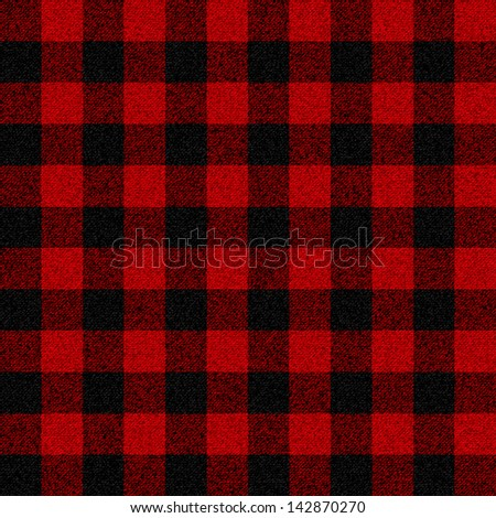 Lumberjack plaid seamless pattern for your design - stock vector