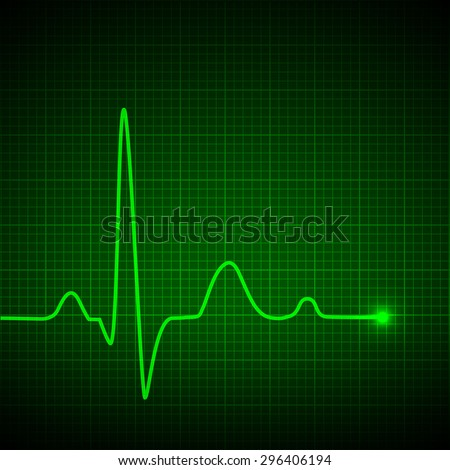 Luminous pulse graphic. Vector illustration. - stock vector