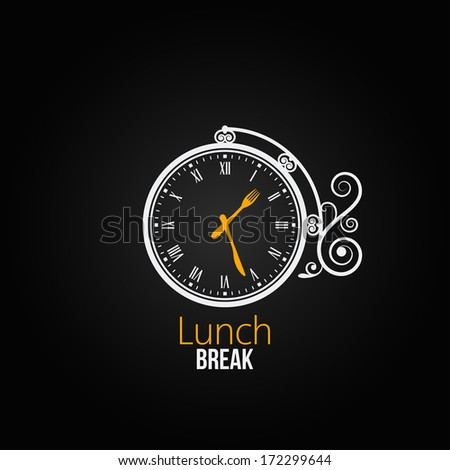 lunch clock concept design background - stock vector