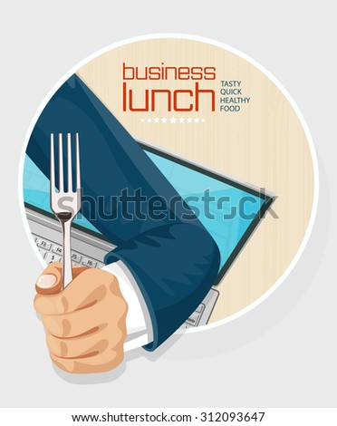 Lunch time concept design background