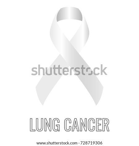 Lung Cancer Ribbon Isolated On White Stock Vector 728719306