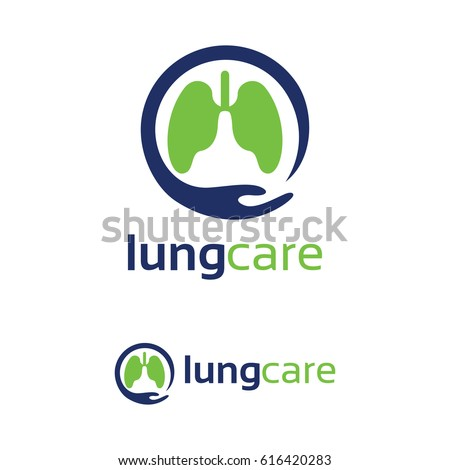 lung care logo template design stock vector 616420283 - shutterstock, Powerpoint templates