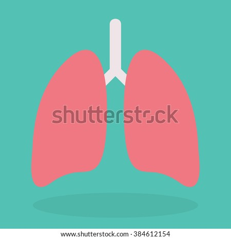 Lung icon. Vector illustration in flat style