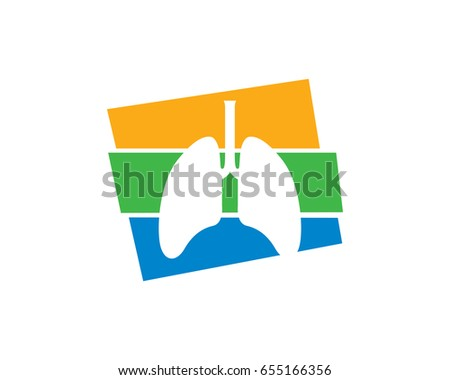 lung logo template design vector emblem stock vector 655166356, Powerpoint templates