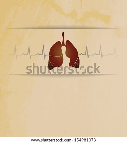 Lungs. Abstract medical wallpaper. Vintage design.
